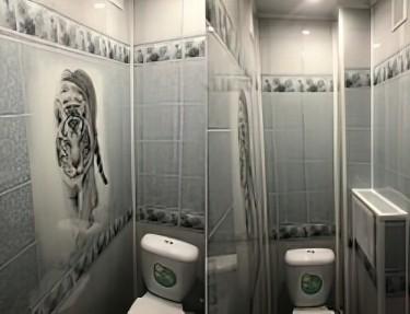 Комплект ПВХ панелей для туалета NJ-04