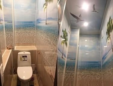Комплект - ПВХ панель для туалета № NM-03 2700х250х8мм