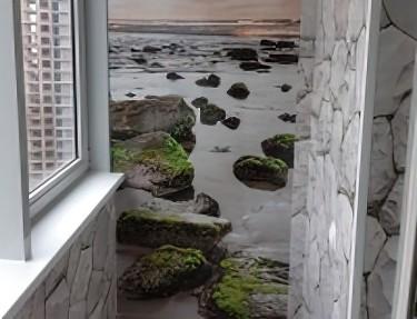 Комплект стеновых панелей ПВХ для балкона PK-07