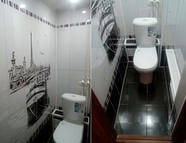 Комплект стеновых панелей ПВХ для туалета PA-01