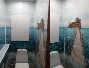 Комплект стеновых панелей ПВХ для туалета PM-28