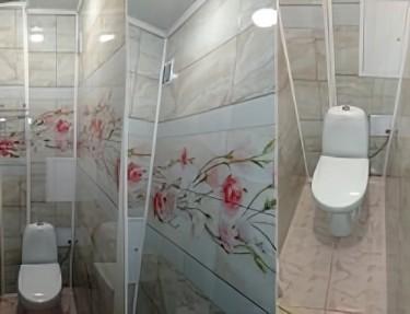 Комплект стеновых панелей ПВХ для туалета UC-11