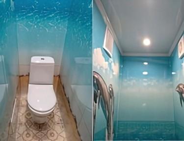 Комплект - ПВХ панель для туалета № VM-04 2700х250х8мм