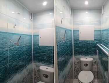 Комплект стеновых панелей ПВХ для туалета PM-29
