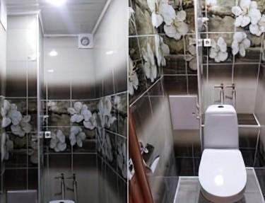 Комплект стеновых панелей ПВХ для туалета UC-93