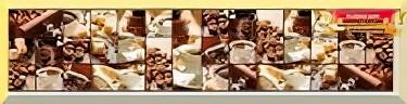 Кухонный фартук Кофейный коллаж 2800х610