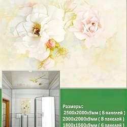 ПВХ панели для потолка Novita, Акварель роза